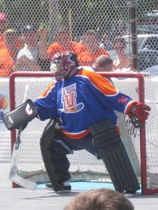 Kevin Smith goaltender of Puck U in 2010