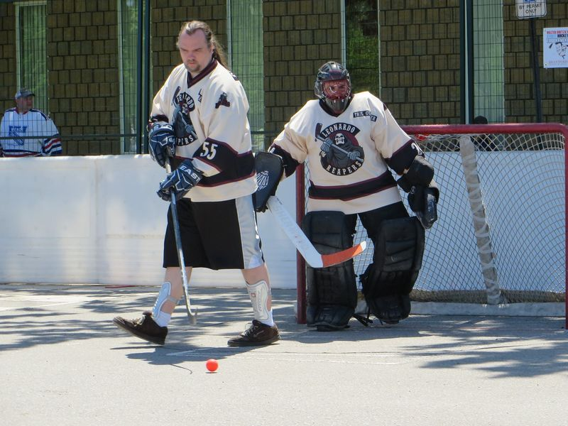 Mike Crandall and Mike Hoffman of the Leonardo Reapers in 2014