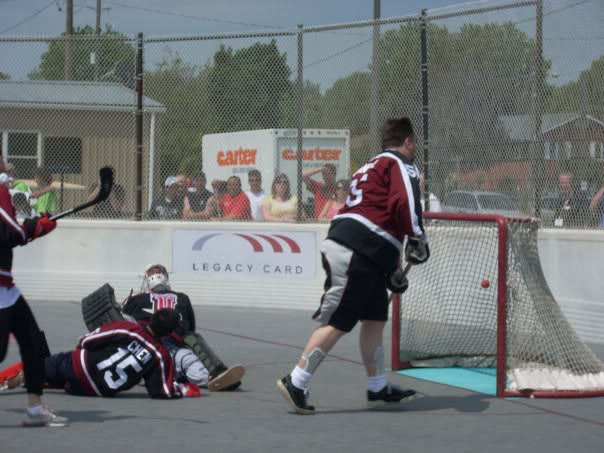 Mike Crandall scores on Puck U in 2009
