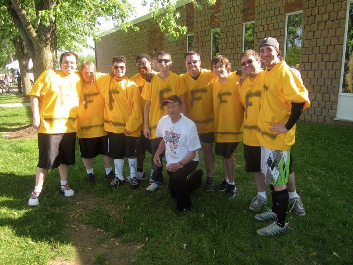The Funployees in 2011 with Walter Gretzky