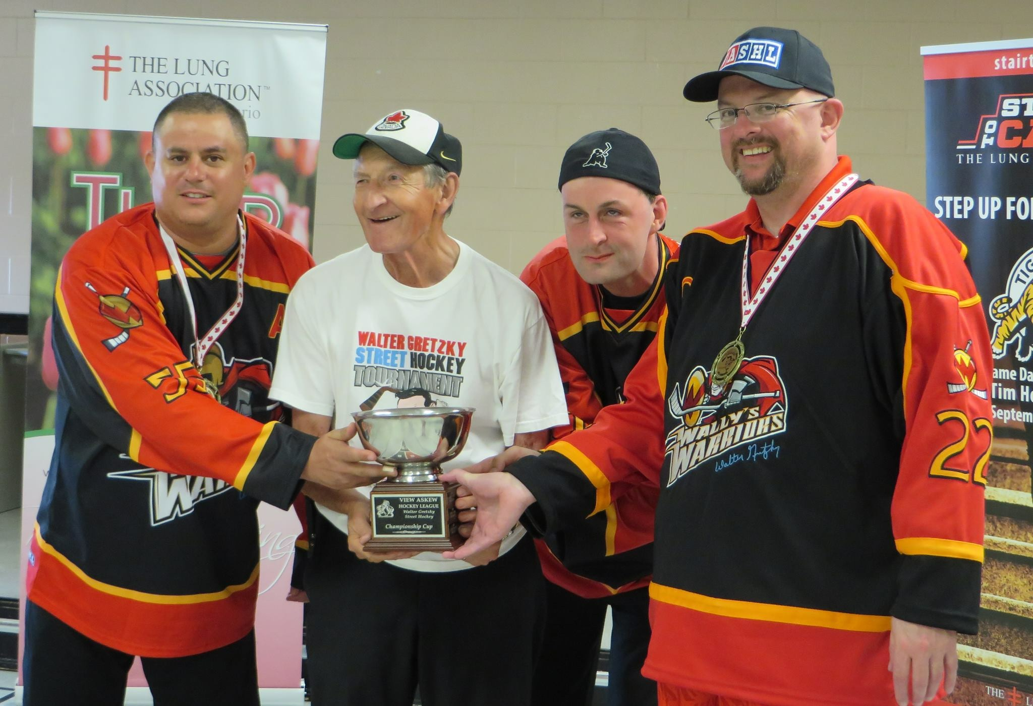Wally with his Warriors in 2015