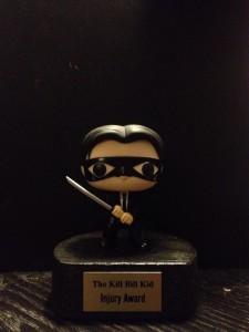 The Kill Bill Kid Injury Award