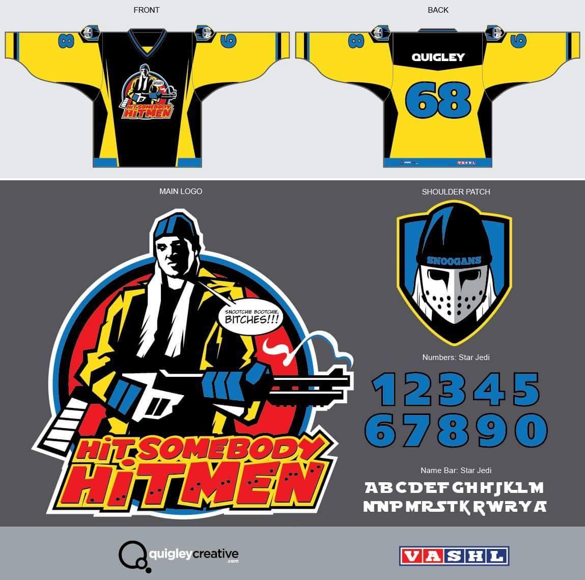 Hit Somebody Hitmen 2016 Concept Jersey Art