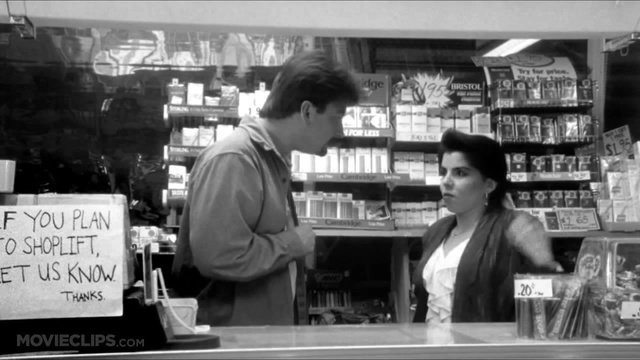 """Dante and Veronica in Clerks: """"I'm 37?"""""""