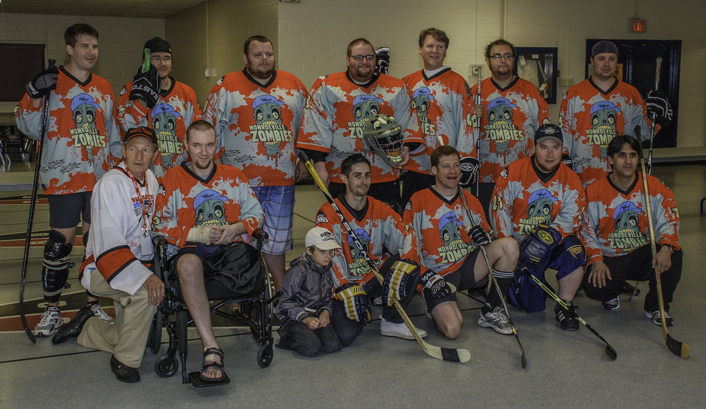 Monroeville Zombies with Walter Gretzky in 2011