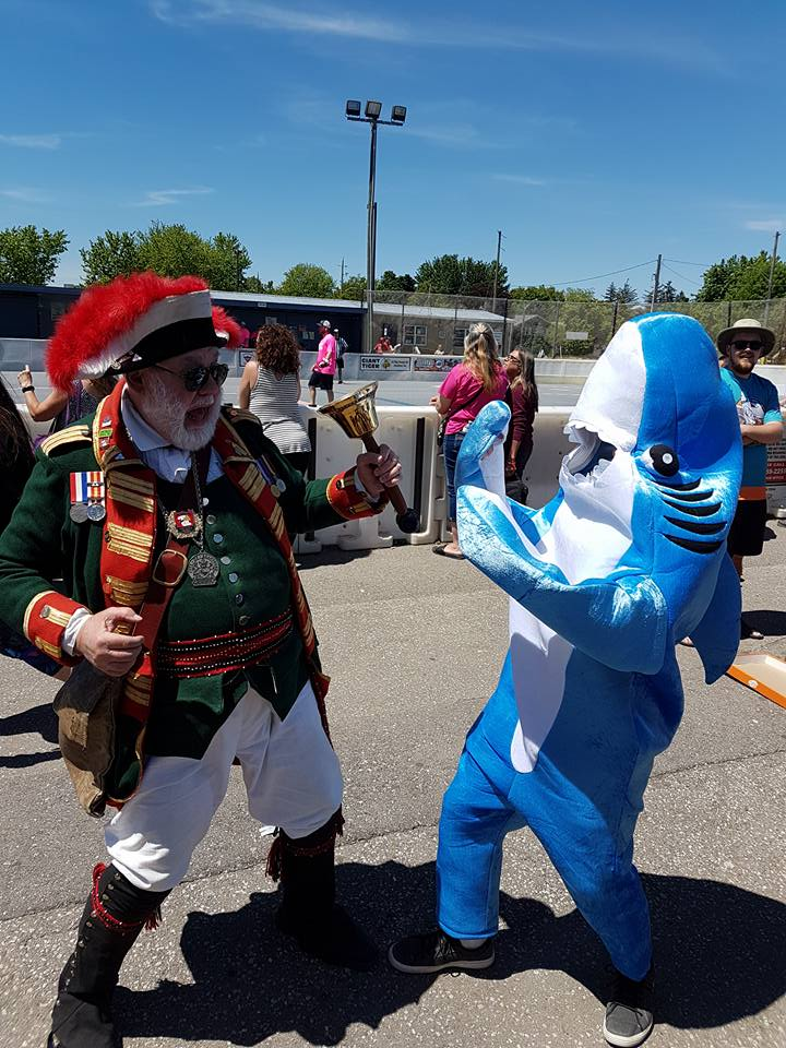 Brantford Town Crier VS Sharky the Beer Shark in 2017